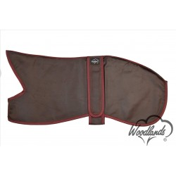 WOODLANDS DARK RED - WAX COTTON LINED WHIPPET COAT