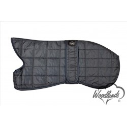 WOODLANDS NAVY QUILTED WHIPPET COAT WARM THERMAL