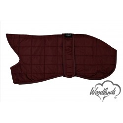 WOODLANDS BURGUNDY QUILTED WHIPPET COAT WARM THERMAL