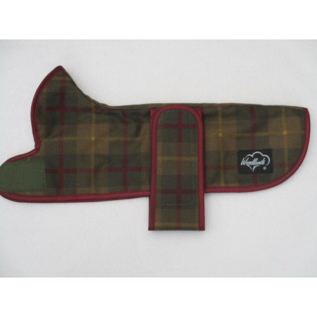 DACHSHUND COAT HUNTER CHECKED WAX