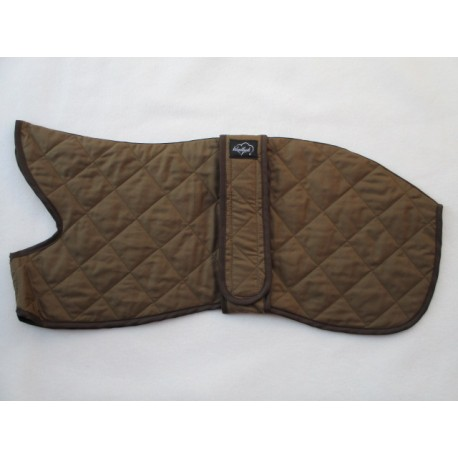 Woodlands Dark Fawn Quilted Lightweight Whippet Coat