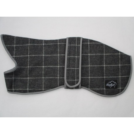 Woodlands Grey Checked Lancashire Wool Whippet Coat