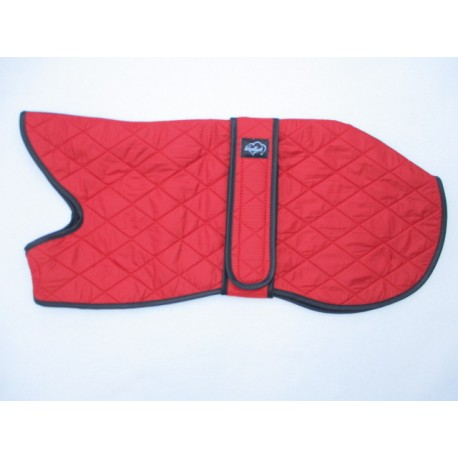 Woodlands Red Quilted Whippet Coat Fleece Lined