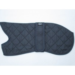 Woodlands Navy Quilted Whippet Coat Fleece Lined