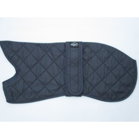 Woodlands Navy Quilted Fleece Lined Whippet Coat