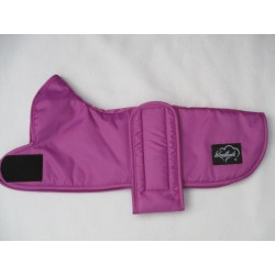 WOODLANDS CERISE DAXI DACHSHUND COAT - GREY SHERPA FLEECE LINING