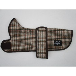 DACHSHUND COAT BROWN DOG TOOTH WOOL
