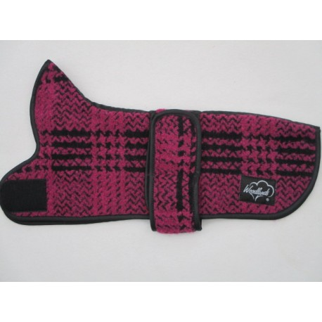 Woodlands Cerise Wool Dachshund Coat