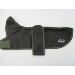 WOODLANDS DACHSHUND WATERPROOF GREEN WAX COAT