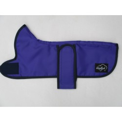 PURPLE DACHSHUND COAT RAIN MAC COTTON LINED