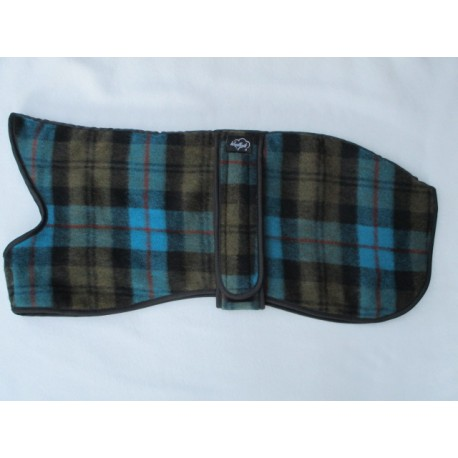 Woodlands Wool Whippet Coat Blue Olive Black Checked