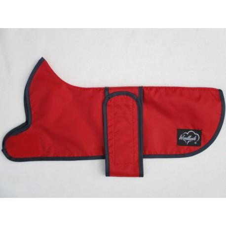 "WOODLANDS Dachshund Waterproof Red Coat Rain Mac Sizes 14"" and 16"""